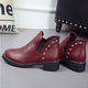 Casual Rivet PU Low Heel Martin Boots