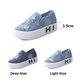 Casual Denim Patch Rivets Platform Loafers