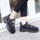 Lace-up Cloth Faux Fur Lined Platform Sneakers