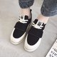 Athletic Suede Magic Tape Platform Sneakers