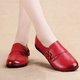 Large Size Genuine Leather Magic Tape Casual Loafers