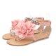 Flower Beading Buckle Strap Flip-flops Sandals