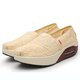 Casual Breathable Lace Hollow-out Platform Loafers