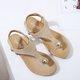 Clip Toe Elastic Flat PU Sandals