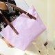 Women Embossed Pattern High Capacity Casual Zipper Handbag Shoulder Bag