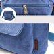 Women Durable Canvas Chic Casual Multi-slots  Crossbody Bag