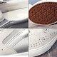 Rhinestone Genuine Leather Slip On Wedge Heel Shoes