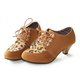 Cone Heel Artificial Leather Lace-up Boots