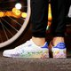 Large Size Inkjet Daily PU Lace-up Sneakers