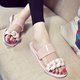 Low Heel Flower Plastic Beach Slippers