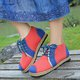 Color Block Linen Daily Boots