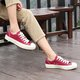 Large Size Canvas Lace-up Casual Sneakers