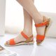 Magic Tape Flat Heel PU Casual Sandals