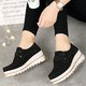Large Size Suede Loafers Lace-up Platform Shoes