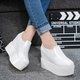 Wedge Heel PU Slip On Shoes