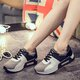 Breathable Split Joint PU Platform Sneakers
