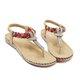 Rhinestone Clip-toe Flat Slip On Sandals