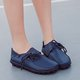 Big Size Leather Lace Up Loafers Flat Casual Shoes For Women