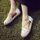 Hollow-out Crochet Elastic Band Flat Loafers