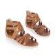 PU Summer Zipper Flat Sandals