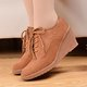 Casual Lace-up Wedge Heel Suede Bootie
