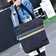 Women Casual Canvas Color-block Tote Bag Shoulder Bag
