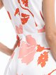 Red Women Holiday Sleeveless Floral Floral Dress