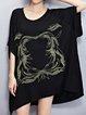 Printed Cotton Animal Batwing T-Shirt