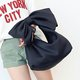 Sweet Bow Decoration Space Cotton Handbag Shoulder Bag For Ladies
