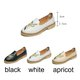 Embroidery Elegant Flower Soft Comfortable Floral Slip On Loafers