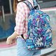Large Capacity Nylon Floral Printed Backpack For Women