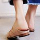 Pointed Toe Cozy Flat Slippers