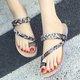 Holiday Flat Flip-flops Rhinestone Braided Slippers