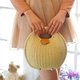 Ladies Sweet Lovely Shell Shape Tote Bag Beach Straw Handbag