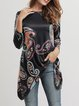 Asymmetric Long Sleeve Casual T-Shirt