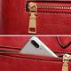 Women Vintage PU Leather Handbag Embossed Peony Chinese Style Crossbody Bag