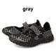 Color Match Knitting Elastic Handmade Slip On Sneakers