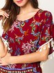 Casual Floral-print Short Sleeve T-Shirt