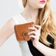 Women Oil-Wax PU Leather Trifold Purse Card Holder Retro Short Wallet