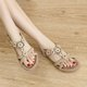 Flower Daily PU Elastic Band Sandals