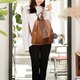 Stylish PU Leather Travel Backpack Casual School Bag For Women Men