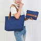 Wearproof Canvas 2PCS Large Capacity Solid Tote Bag Shoulder Bag
