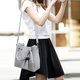 3PCS Elegant PU Leather Tassel Beads Tote Bag Crossbody Bag For Women