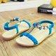 Rhinestone PU Daily Flat Heel Casual Sandals