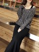 Women Casual Dress Crew Neck A-line Daily Casual Solid Dress