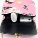 Floral Printed Vintage PU Leather Chain Crossbody Bag For Women