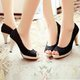 Casual Platform Fabric Slip-On Plus Size Pumps