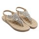 Bohemia Rivets Clip Toe Beach Flat Sandals