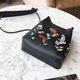 PU Leather Embroidery Vintage Crossbody Bag For Women