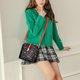 Star Printed Shell PU Leather Crossbody Bag Casual Messenger Bag For Women